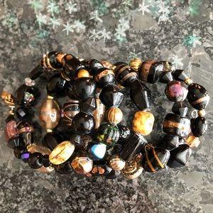 Jewelry - Handblown Multi Bead- Glass Bracelet Gorgeous!!!